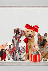 Greenbox Art Holiday -  Festive Puppy Pack Mini Framed Canvas