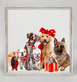 Greenbox Art Holiday -  Festive Puppy Pack Mini Framed Canvas