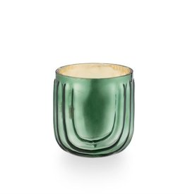 Illume Evergreen Pressed Glass Candle