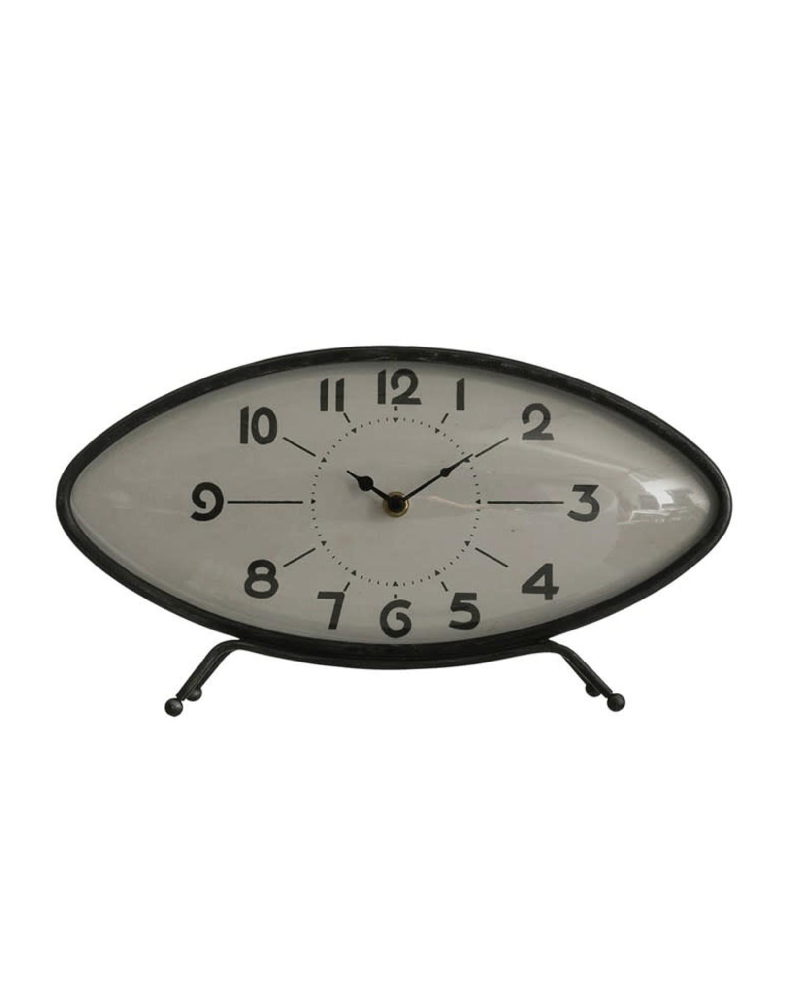 """Metal Shelf Clock 14""""L x  8""""T"""