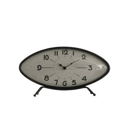 "Metal Shelf Clock 14""L x  8""T"