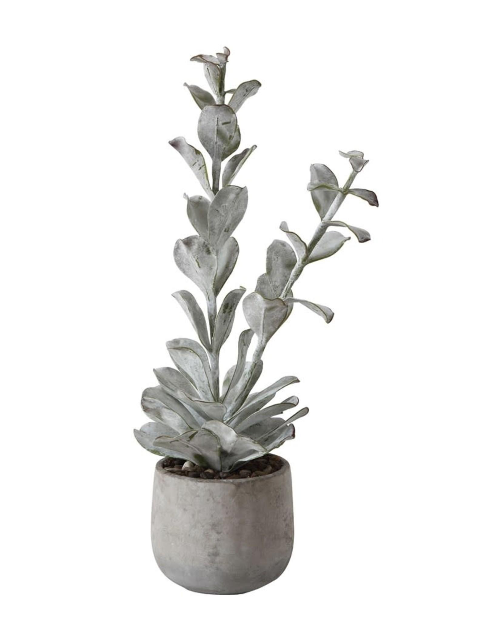 """23-1/2"""" H Faux Succulent in Cement Pot"""