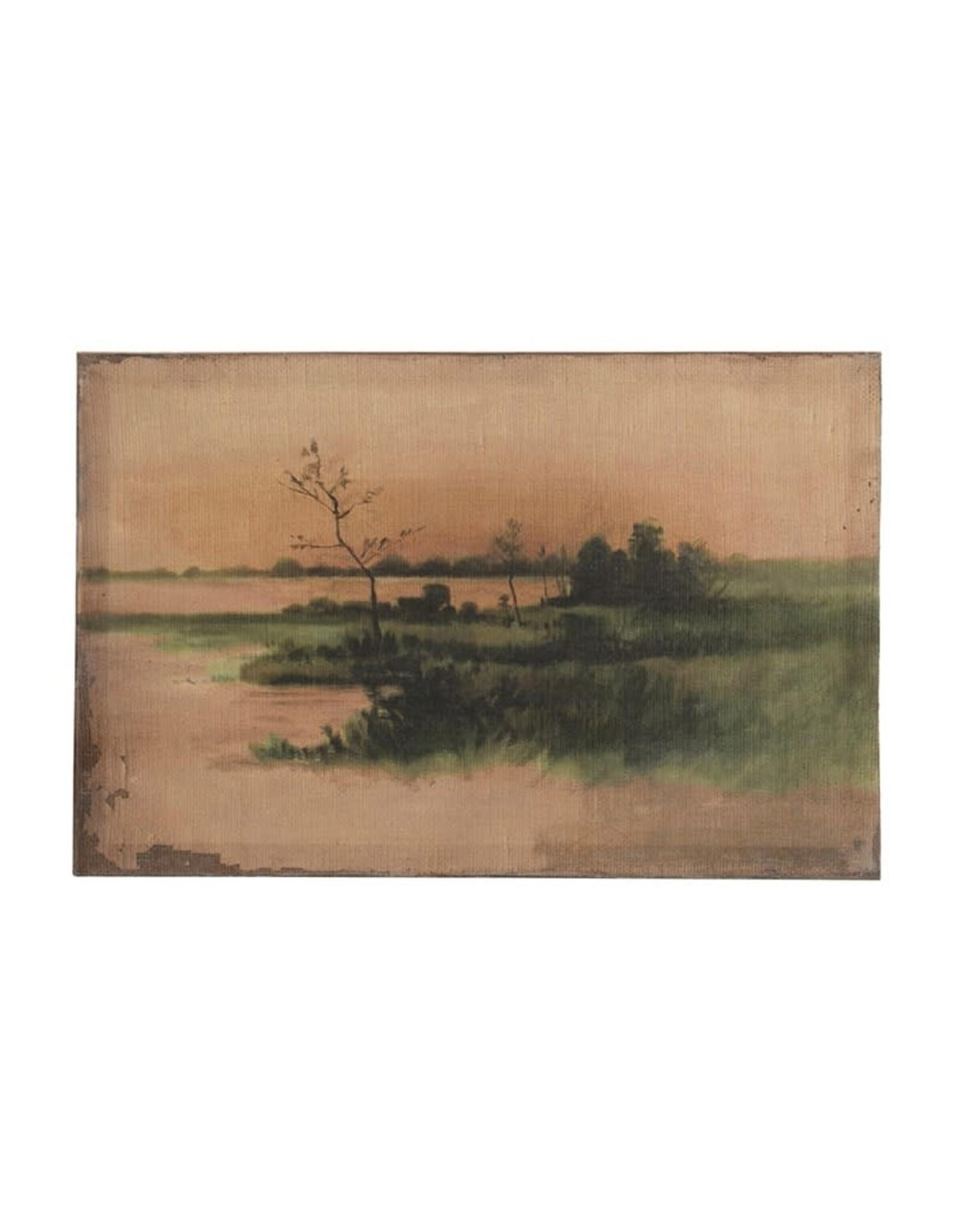"""Vintage Reproduction Landscape Image18""""W x 11-3/4""""H Canvas Wall Decor"""