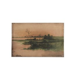 "Vintage Reproduction Landscape Image18""W x 11-3/4""H Canvas Wall Decor"