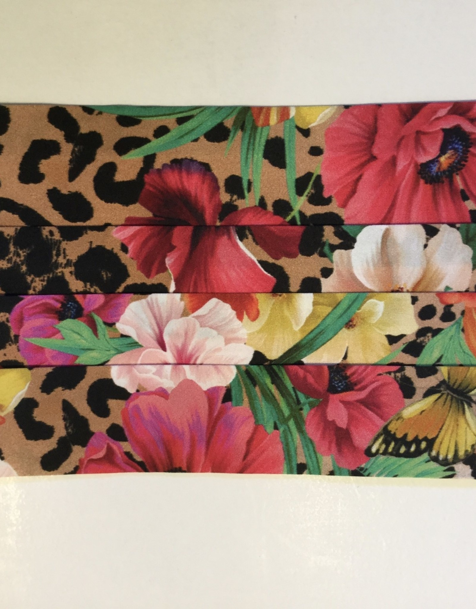 Johnny Was Collection Floral & Leopard-Silk Charmeuse Mask