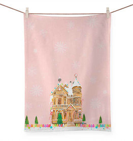 Greenbox Art Holiday - Gingerbread House Tea Towel