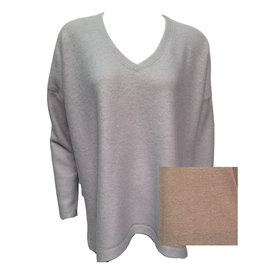 Latte Brushed Oversize Slit Side Top