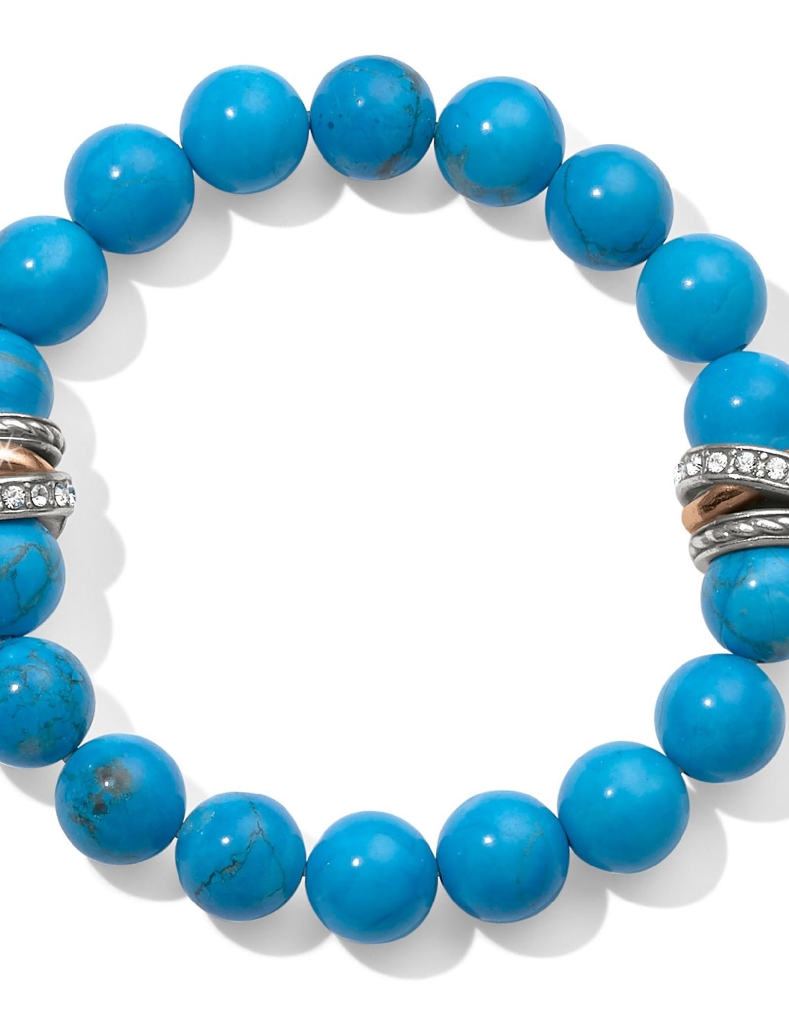 Brighton Neptune's Rings Turquoise Stretch Bracelet