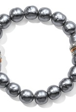 Brighton Neptune's Rings Gray Pearl Stretch Bracelet