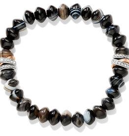 Brighton Neptune's Rings Banded Agate Stretch Bracelet