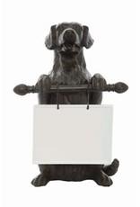 Resin Dog w/ Ceramic Message Board
