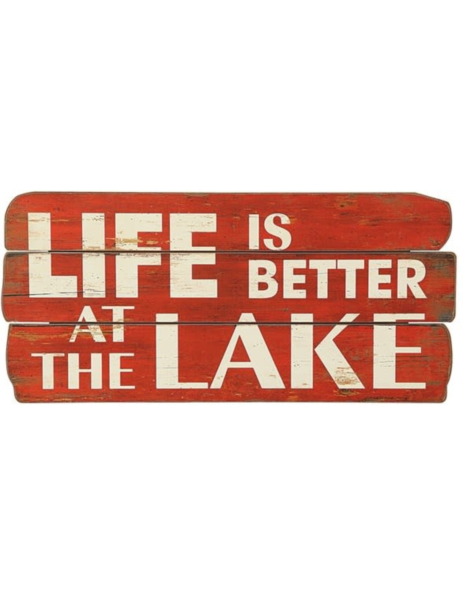 "Life Is Better at The Lake"", Red"