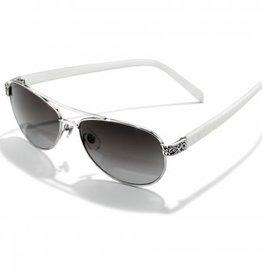 Brighton Sugar Shack White/Silver Sunglasses