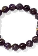 Brighton Neptune's Rings Amethyst Stretch Bracelet Purple