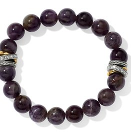 Brighton Neptune's Rings Amethyst Stretch Bracelet Purple