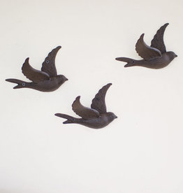 Kalalou Cast Iron Flying Bird Wall Hook