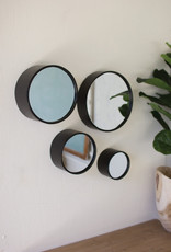 Kalalou Set of 4 Round Metal Wall Mirrors