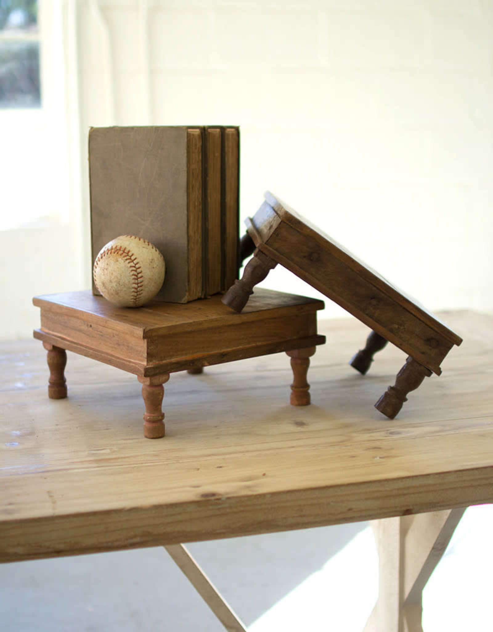 Kalalou Small Recycled Wooden Riser
