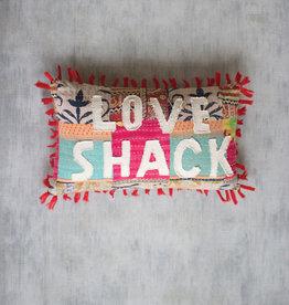 Kalalou Love Shack Kantha Pillow