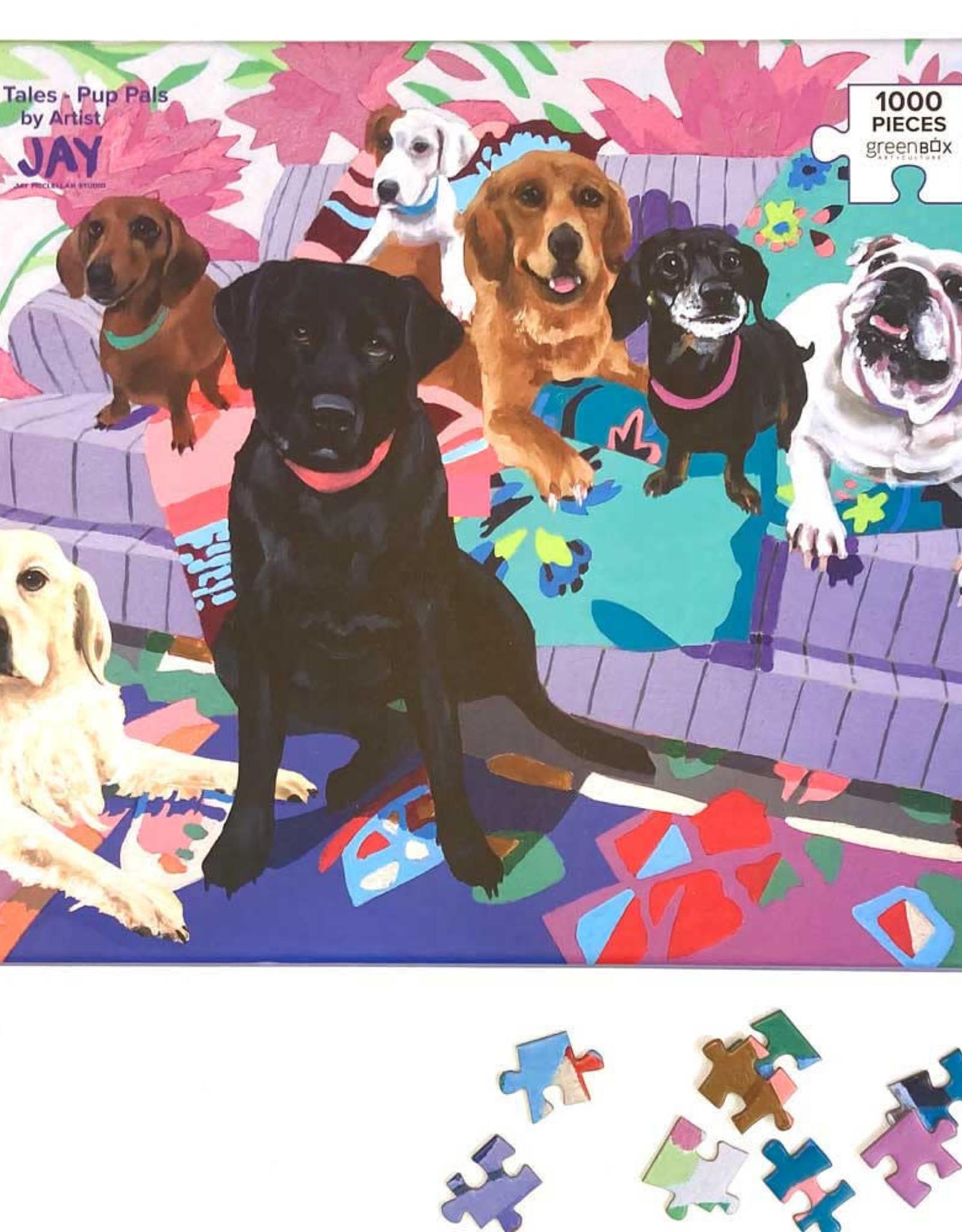 Greenbox Art Dog Tales - Pup Pals Puzzle