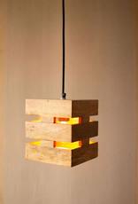 Kalalou Mango Wood Box Pendant Light