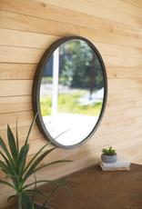 Kalalou Round Mirror with Natural Metal Frame