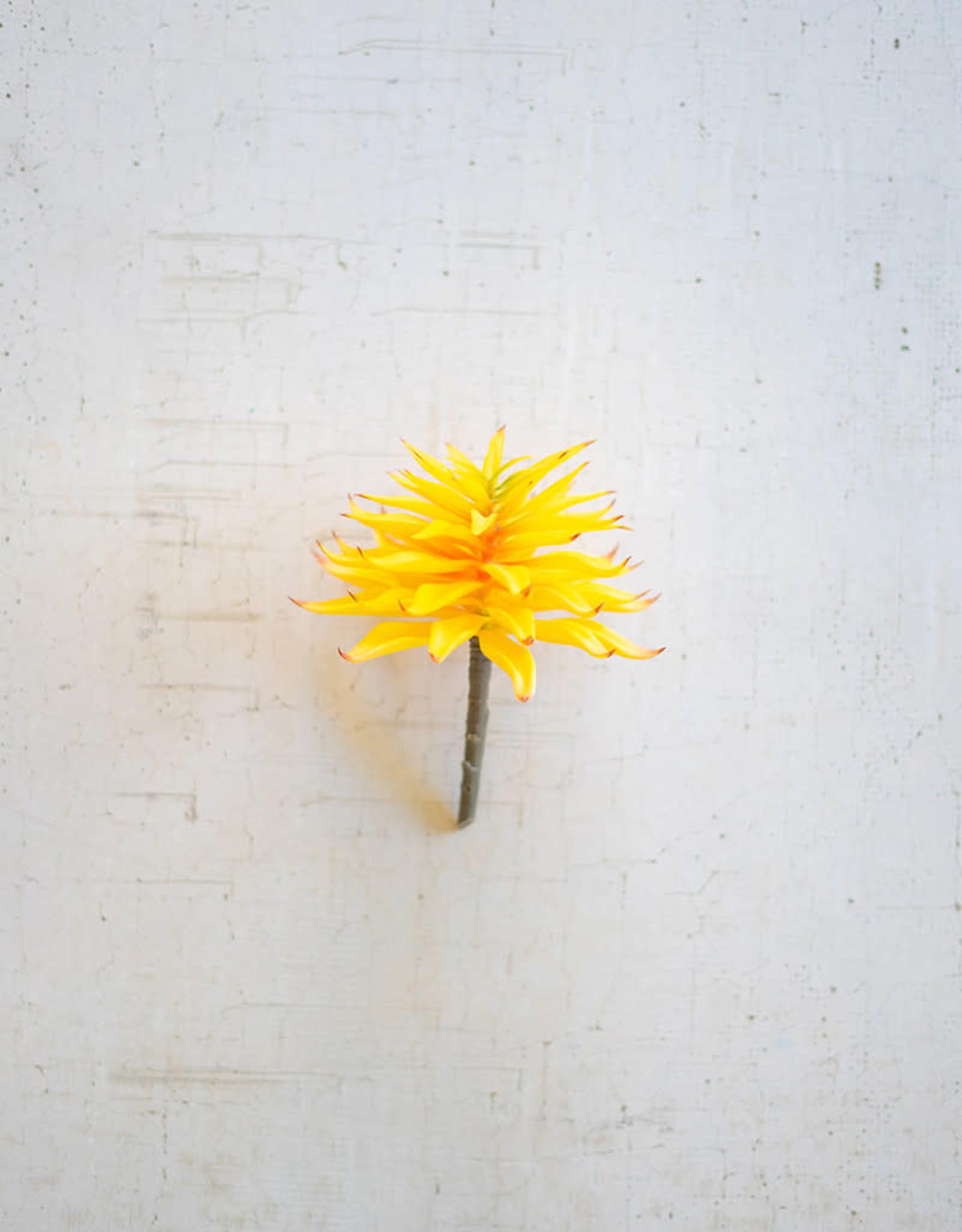 Kalalou Artificial Succulent Stem Yellow