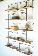 Kalalou Set of 14 Wood & Metal Shelves