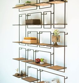 Kalalou Set of 14 Wood & Metal Shelves