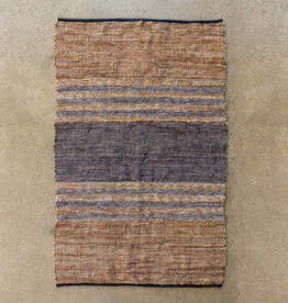 """Park Hill Collection Woven Leather & Cotton Rug 48"""" x 72"""""""