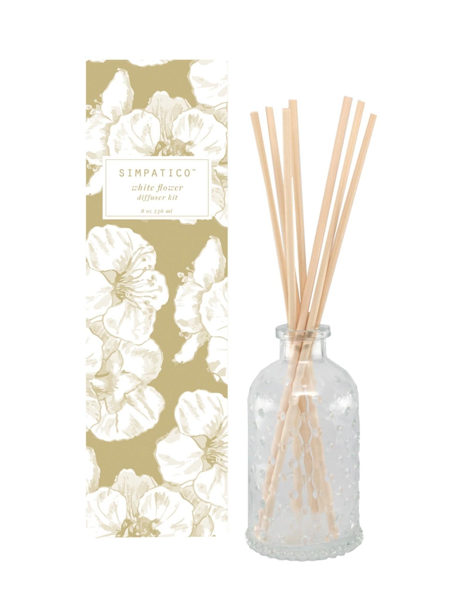 Barr-Co White Flower Diffuser Kit 8oz