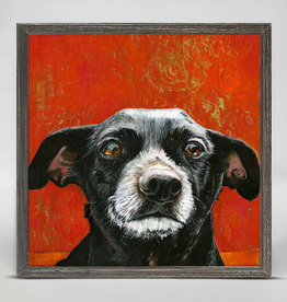 Greenbox Art CoCo Rustic Black Mini Framed Canvas 6x6