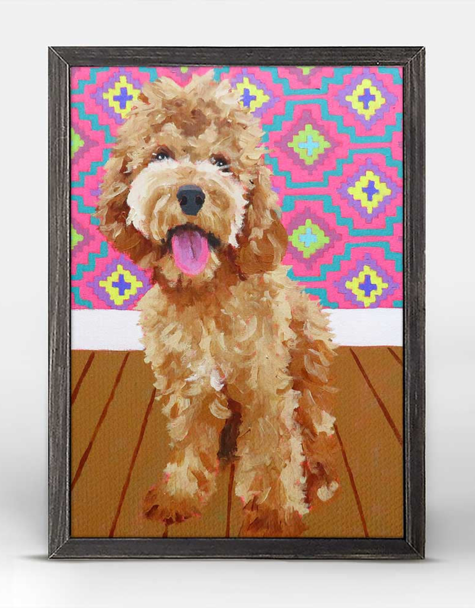 Greenbox Art Dog Tales-Morris Rustic Black Mini Framed Canvas