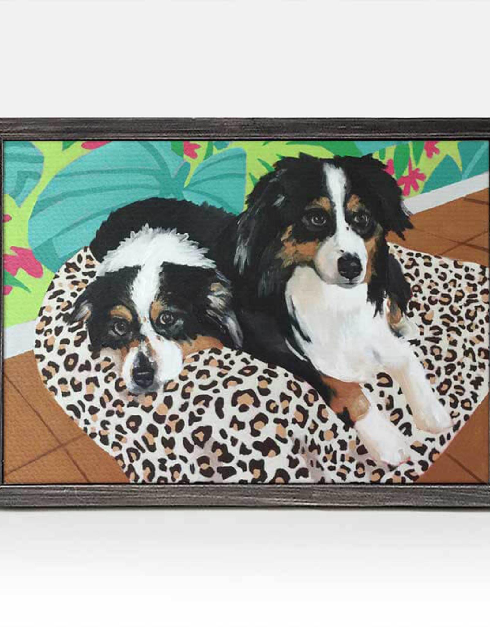 Greenbox Art Dog Tales-Remer Rustic Black Mini Framed Canvas