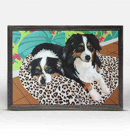 Greenbox Art Dog Tales-Remer Rustic Black Mini Framed Canvas