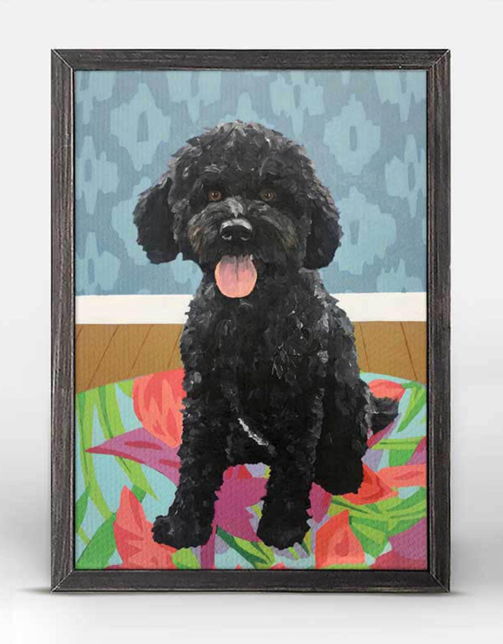 Greenbox Art Dog Tale-Squire Rustic Black Mini Framed Canvas