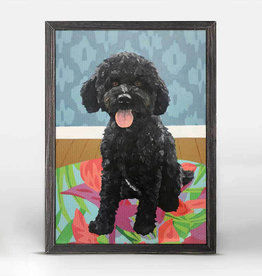 Greenbox Art Dog Tale-Squire Rustic Black Mini Framed Canvas