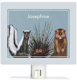 Greenbox Art Miss Skunk, Pokey And Beaver Night Lights-5x4