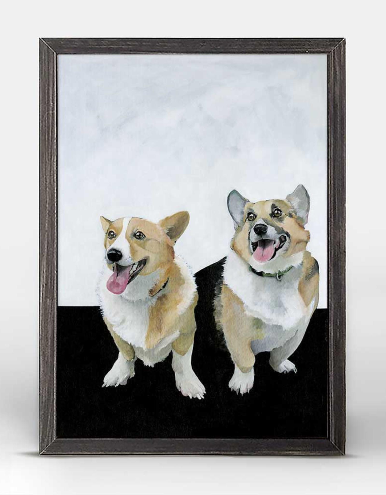 Greenbox Art Olive & Nash Rustic Black Mini Framed Canvas