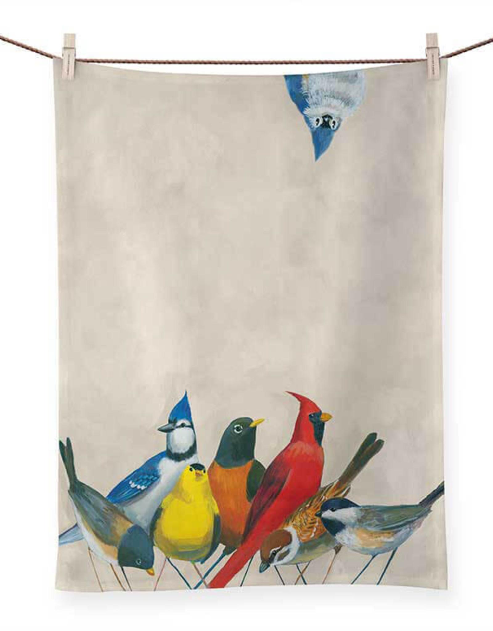 Greenbox Art Songbirds Tea Towel -21x28