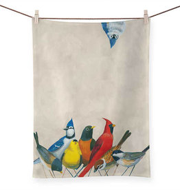 Greenbox Art Songbirds Tea Towel -21x28