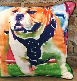 Watercolor Full Body Bulldog-Piping Black