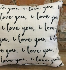 I Love You Pattern Pillow