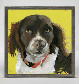 Greenbox Art Pippin Black Mini Framed Canvas 6x6
