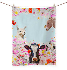 Greenbox Art Wildflower Farm Tea Towel