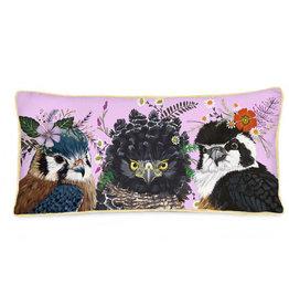 Greenbox Art Flora & Fauna Birds Pillow 28x14