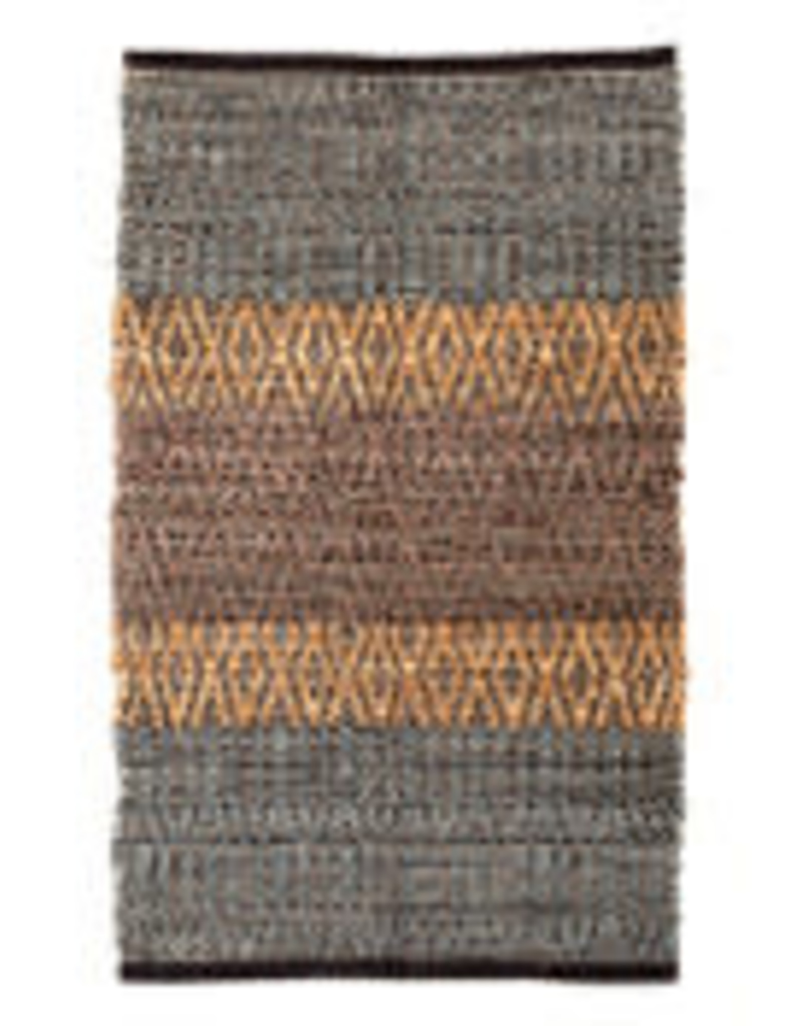 Park Hill Collection Recycled Leather and Denim Pattern Mat w/o Fringes