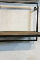 """Kalalou Single Metal & wood Shelf 10""""T x 11""""W x 8""""W"""