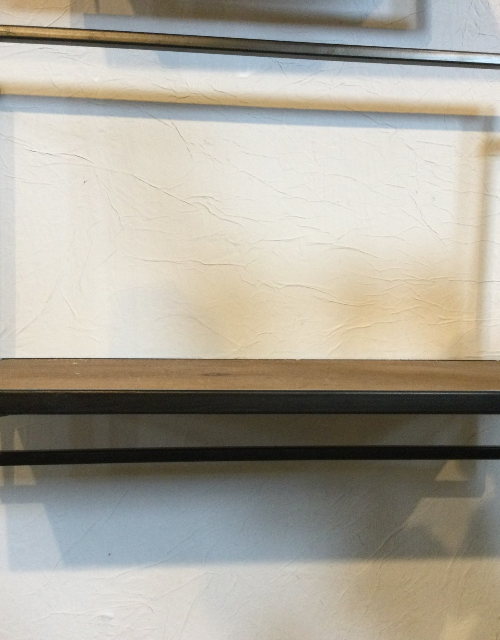 "Kalalou Single Metal & wood Shelf 10""T x 15""W x 8""D"