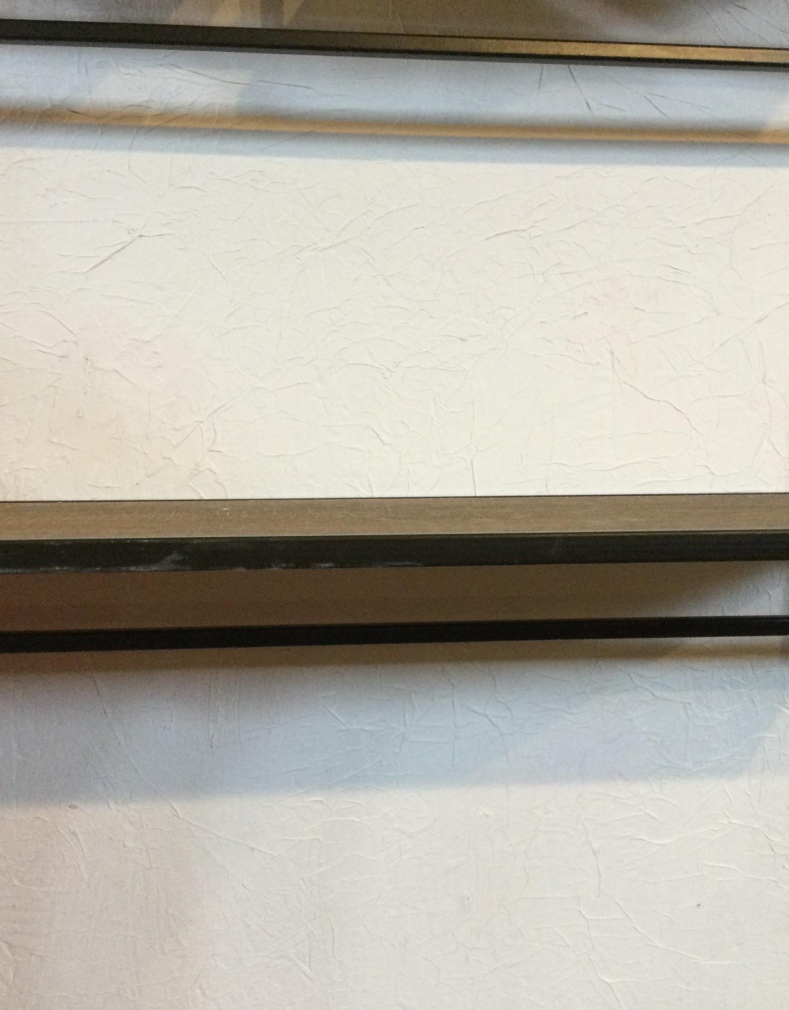 "Kalalou Single Metal & Wood Shelf 10""T x21""W x 8"" D"